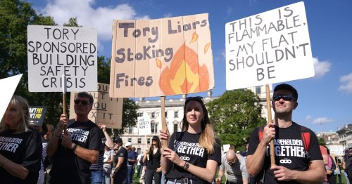 Protest as flat owners hit by cladding scandal face financial ruin without help