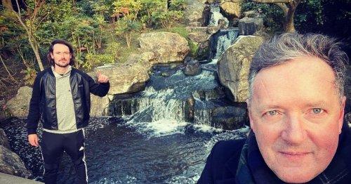 Piers Morgan reunites with son Spencer after his lavish Barbados break