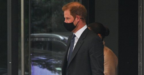 Prince Harry's laptop case accidentally gives away Archie's nickname for his dad