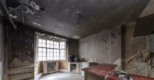 Fire-damaged studio flat 'with Britain's dirtiest loo' goes on sale for £250,000