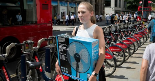 Cost of keeping an electric fan on all night as UK sizzles in heatwave