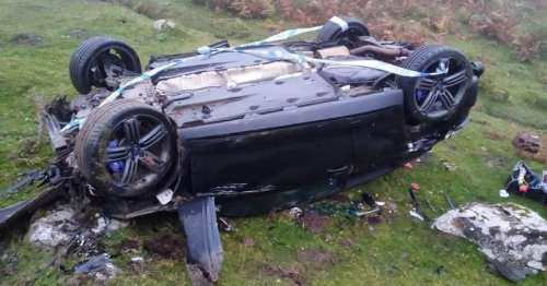 Man describes moment car flew off mountain plummeting 160ft - and he survived