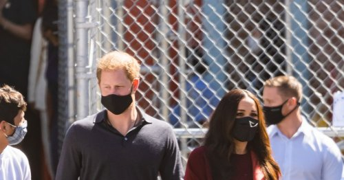 Prince Harry spotted 'hooked up with a microphone' during walkabout in New York