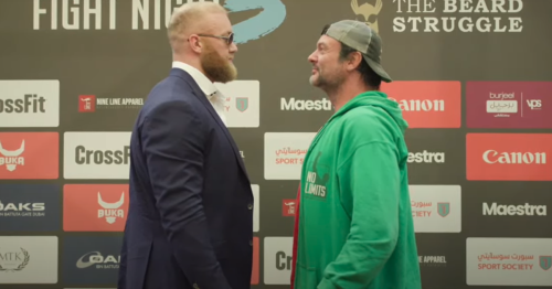 """Thor Bjornsson opponent admits he's """"terrible"""" days out from boxing debut"""