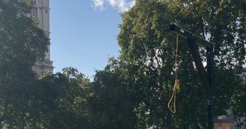 Arrest as gallows erected outside Parliament - days after David Amess murder
