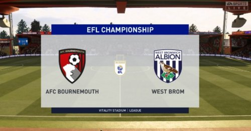 We simulated Bournemouth v West Brom to get a score prediction