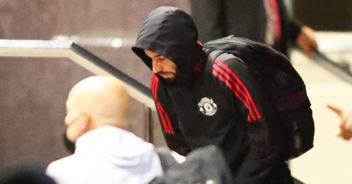 Man Utd squad for Liverpool confirmed with Fernandes pictured after injury scare
