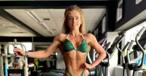Woman, 28, who ate four takeaways a day drops five stone to become a bodybuilder
