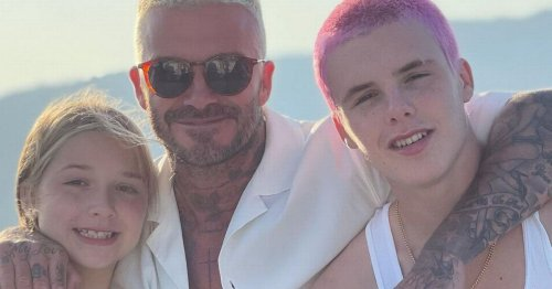 David Beckham and son Cruz show off matching hairstyles on holiday