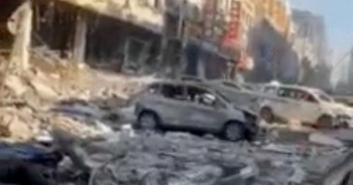 Casualties feared as gas explosion destroys entire block and sends debris flying