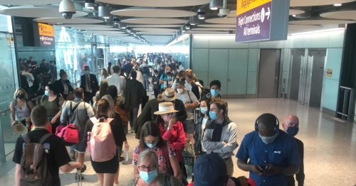Quarter mile queues at Heathrow Airport 'as 25% of staff in Covid isolation'