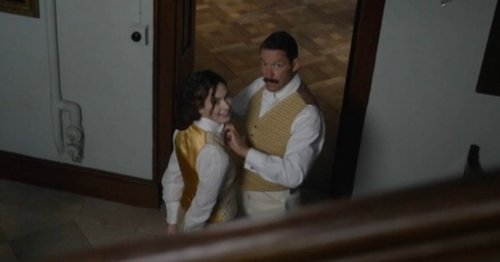 Pursuit of Love viewers cringe as Dominic West plays Lily James' dad in drama