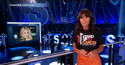 Davina McCall's touching tribute to Sarah Harding during Stand Up To Cancer