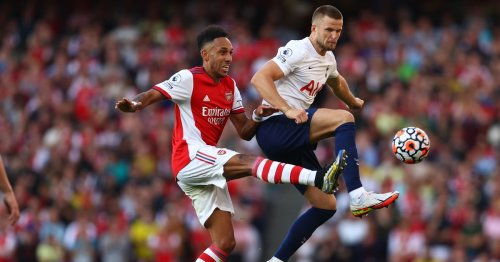 Aubameyang's clash with Eric Dier as Arsenal star sticks up for teammate