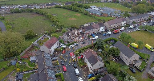 Three houses destroyed by 'gas explosion' as neighbours woken by loud blast flee