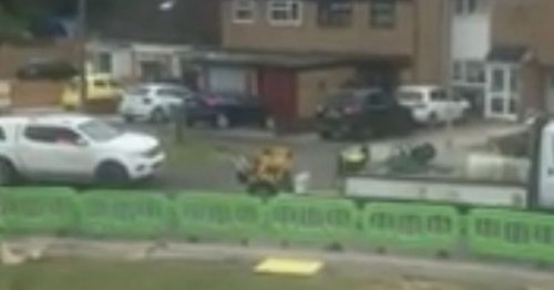 Residents anger as workmen block them in homes with barriers to install internet