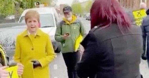 Nicola Sturgeon calls ex-deputy leader of Britain First 'racist' in stand off