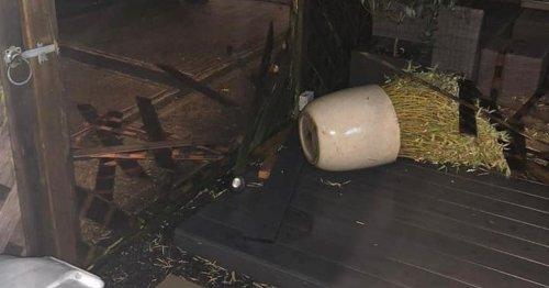 'Tornado' wrecks gardens as Storm Aurore flooding causes chaos and snow falls