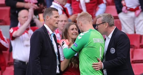 Schmeichel's comforting words for Eriksen's distraught partner after collapse