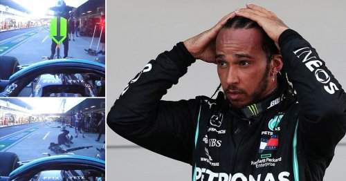 Lewis Hamilton's 'heart was in his mouth' as he hit mechanic in scary accident