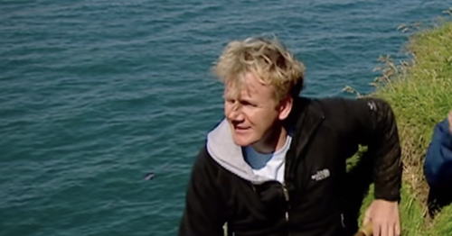 Gordon Ramsay narrowly avoided death after plunging off cliff into icy water