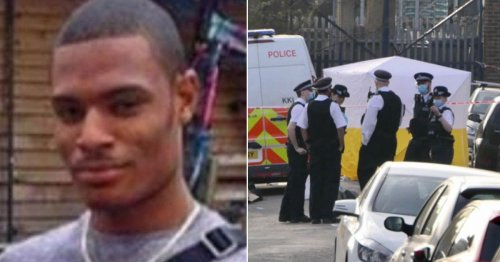 Man, 23, stabbed to death at vigil for victim killed on same street pictured