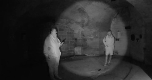 Ghosthunters flee 'haunted' fort as spirit 'tries to electrocute them' on camera