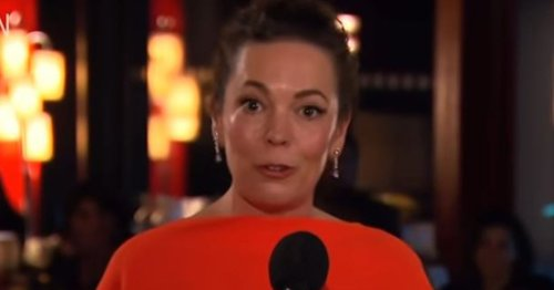 Olivia Colman in tears as she honours dad who died 'during Covid' in Emmy speech