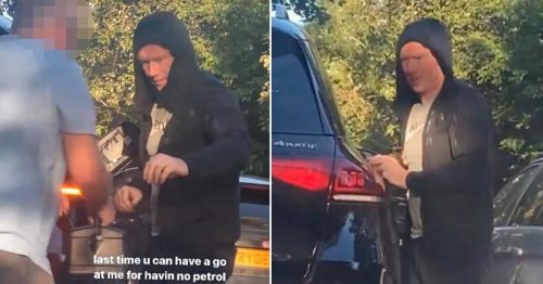 Paul Scholes forced to top up his car with roadside jerry can in petrol crisis