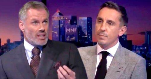 Jamie Carragher brutally mocks Gary Neville after naming Man Utd's best team