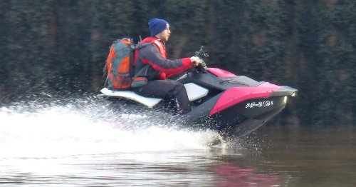 Jetski Romeo 'splits from lover' after he risked life crossing Irish sea for her