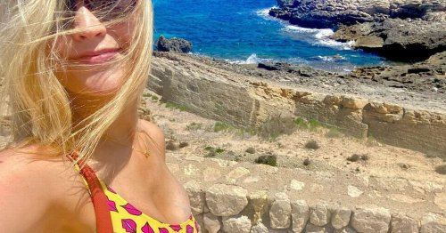 Laura Whitmore hits beach after flying back to Love Island for Casa Amor drama