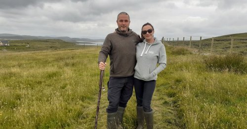 Twist of fate sees English couple move to Scot island to become modern crofters