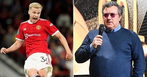 Mino Raiola's 'attempt' to wade into Donny van de Beek situation at Man Utd