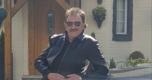 Paul Chuckle oozes cool in leather jacket as he shows off custom licence plate