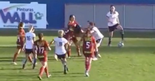 Women's football match descends into chaos as punches thrown and hair pulled