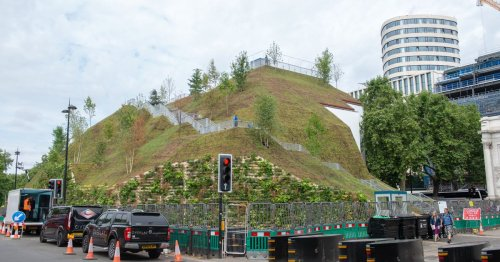 Council's £2m 25-metre artificial hill mocked for looking like a 'slag heap'