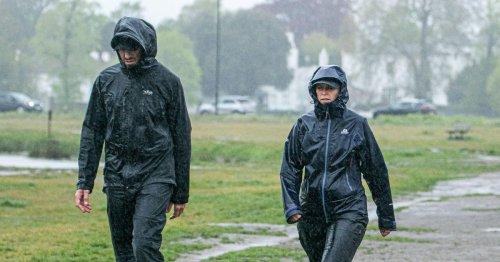 Weekend washout as 5ins of torrential rain and gales batter UK's beer gardens