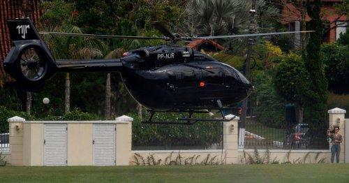 Brazil superstar Neymar poses alongside £10m personalised Mercedes helicopter