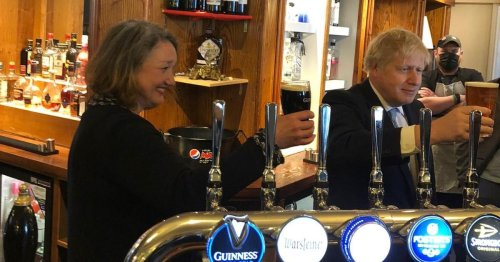 Boris Johnson accused of breaking Covid rules with pint inside pub