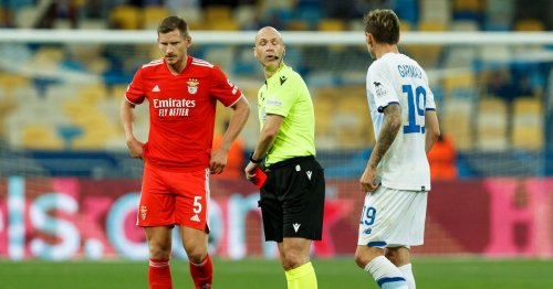 Premier League referee Taylor makes embarrassing Champions League red card gaffe
