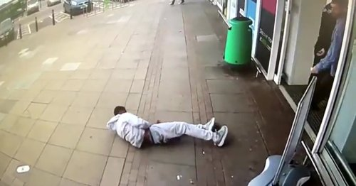 Man knocked out by single punch in Asda and dragged across floor by his hoody