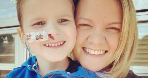 Heartbreaking pictures of boy, six, battling rare disease linked to Covid-19