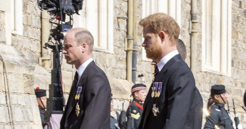 William and Harry 'walked together to show they are on speaking terms'