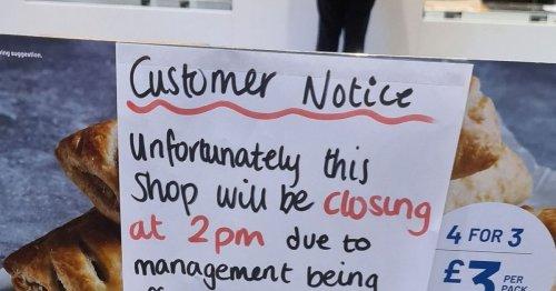 Greggs customer spots 'wildly inappropriate' note mocking boss in shop window