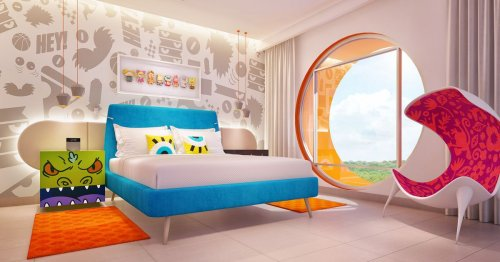 Nickelodeon's new hotel has cartoon-themed rooms and a huge water park