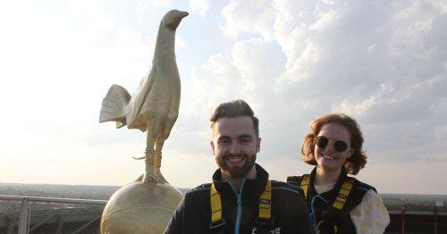 'We climbed up Tottenham's stadium and discovered Gazza's cockerel mystery'