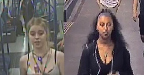 Hunt for two women who smashed wine bottle over lone Tube passenger's head
