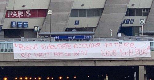 PSG fans hang brutal anti-Pogba banners in Paris amid Man Utd transfer interest