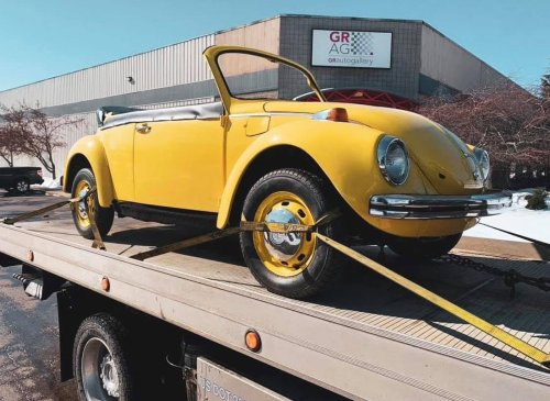 Restoration of Grand Rapids Children's Museum's beloved Volkswagen Beetle to be unveiled at car show
